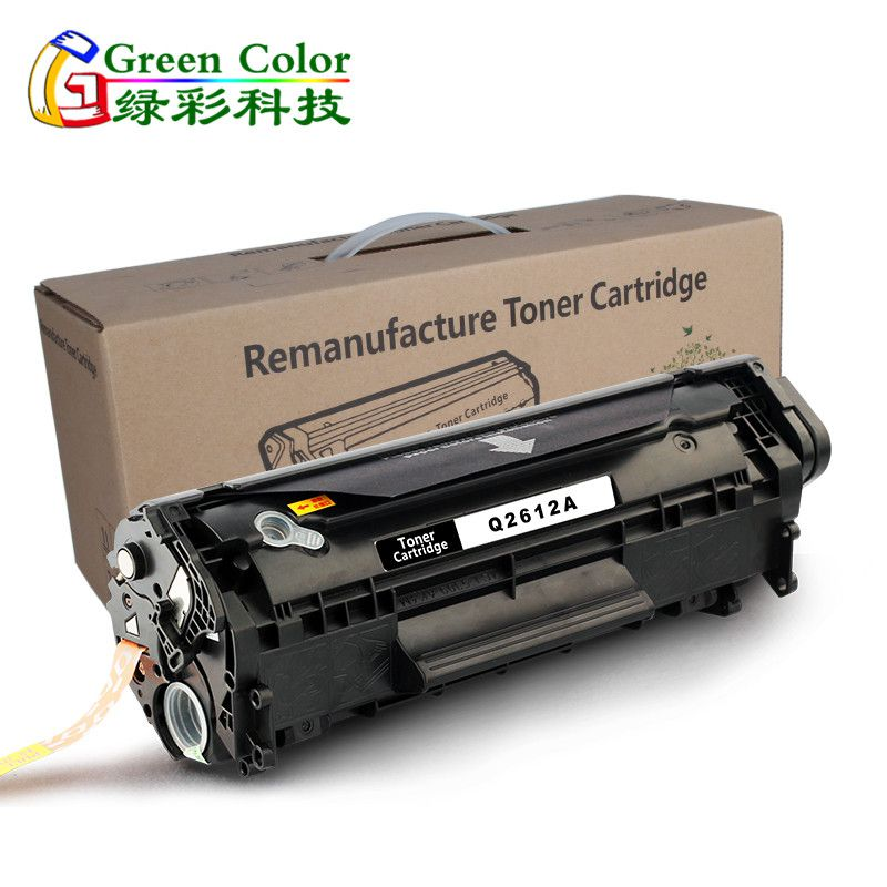 Greencolor Q2612A 12a 2612A 2612 12 toner cartridge For HP LaserJet printer